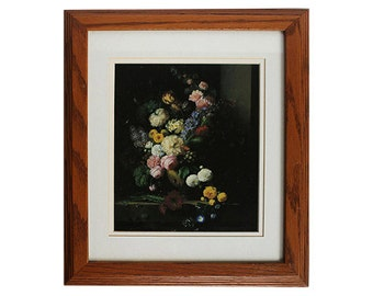 Oak Custom Framed Still Life Floral