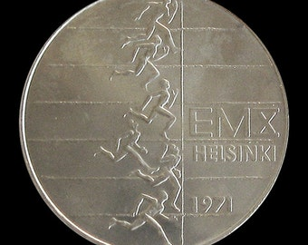 FINLAND 10 Markkaa KM# 52  1971 Olympic Commerative