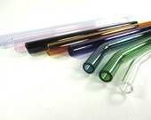 Customize Your Own Glass Straws- Choose your Color, Length and Style Glass Drinking Straws