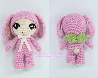 PATTERN: Lilanna the Baby Bunny Fairy Crochet Amigurumi Doll