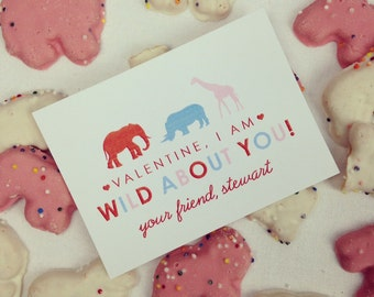 DIY, Personalized Valentine Tag - Wild About You