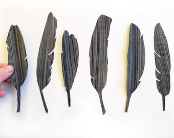 Fabric feather magnets