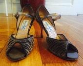 Vintage Mary Jane Heels - Metallic