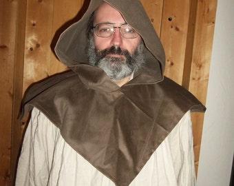 Brown corduroy hood