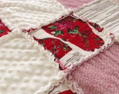 SPECIAL WINTER PRICE!  Scarlet, the Polar Bear Hat with Coordinating Rag Quilt