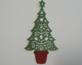 Christmas Tree Die Cut for Scrapbooking and Cards Embellishment