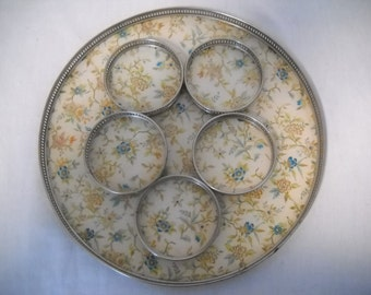 Vintage Coasters And Tray/Japanese Coasters/Serving Tray/Coasters