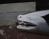 Vintage Justrite Seal in Original Box.  Office/Document Seal.  G-020