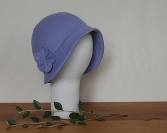EXTRA LARGE Brimmed Cloche Hat with Flower - CUSTOM