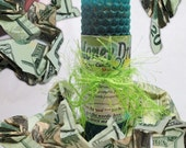 Money Draw Prosperity Good Fortune Loaded Beeswax Hand Rolled Taper Candle for Spells, Ritual, Magick and Conjure