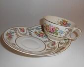 Johnson Pareek Marlborough Tea Cup and Saucers - Chipped, Crazing, Mosaic Material