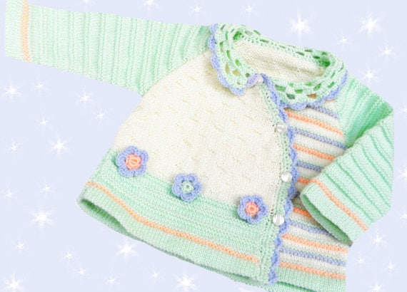 Baby jacket , Кnitted baby sweater, knitted baby clothes, hand knitted baby sweater, multicolor, READY TO SHIP