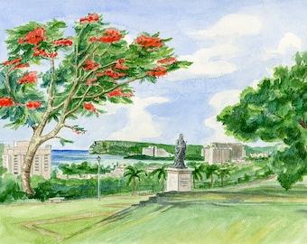 Chinese Garden above Tumon Bay