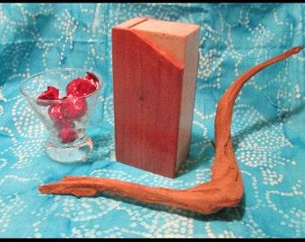 Wooden piggy bank