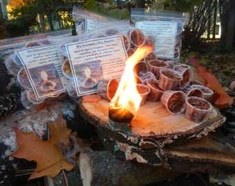 """1 Match - """"BackCountry FireStarters ...by pk"""" - For Wood Burning Stoves, Fireplaces, Fire Pits, Campfires"""