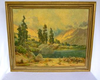 JACK WILKINSON SMITH Vintage Framed California Art/ Tilted Morning Mist/ Rare Print