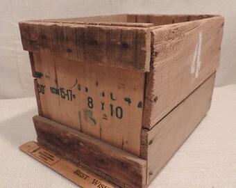 Wood Box  Rustic Box  Rustic Crate Wood Crate  Home Decor Rustic Decor  Farm