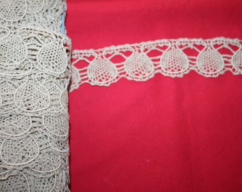Antique Handmade Bobbin Lace- per yard