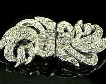 Clear Rhinestone Dress Clip and/or Brooch Intact (No. 430)