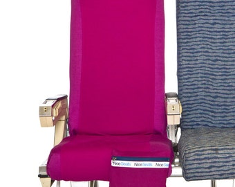 Airplane Seat Cover- Magenta #14 Nice Seats- Great on Planes, Buses, Trains & Movie Theaters- Make a Clean Getaway