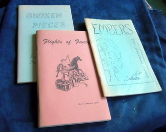 Set of Three Books of Eclectic Poetry Written by a Family Friend, Matt Leach, and Published in New York