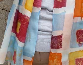 Velvet Devoré Scarf /Foulard - evening stole - wrap - shawl