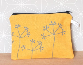Yellow floral pouch
