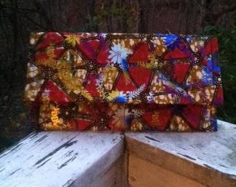 African Fabric Clutch Purse