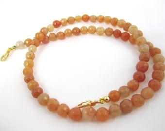 Shop CLOSING SALE, Faceted Apricot Color Gemstone Necklace for Interchangeable Multi Strand Collection,mix or match, versatile, 35% off code
