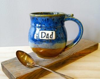 One 16 ounce Dad Mug, Coffee Mug, READY TO SHIP, Handmade Pottery, Handmade Ceramics by RiverStone Pottery