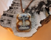 Tree of Life - fused glass - glass jewelry - glass necklace - sterling silver inclusion - tree - nature - glass pendant  - art