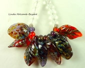 Necklace with Eight Leaf Beads