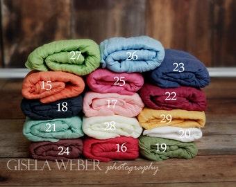 RTS, PICK 1, Newborn Cheesecloth, Newborn Wraps, High Grade 50, Newborn Photo Prop, 29 VIBRANT Colors, Baby Wrap, Newborn Cheesecloth Wrap