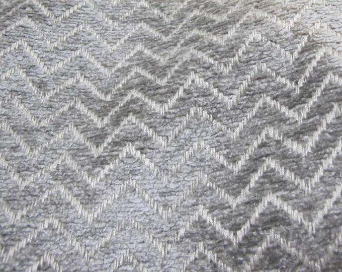 Designer Pillow Cover  Lumbar, 16 x 16, 18 x 18, 20 x 20, 22 x 22 - Riley Chevron Chenille Gray