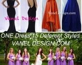 Bridesmaid Dress Infinity Convertible Formal Cocktail Mermaid Dress Wrap Dress Bridesmaid Maxi Skirt Romantic Long Skirt Color Samples