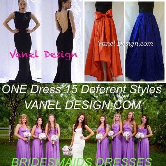 Convertible dress long