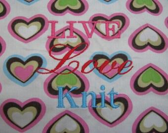 Project Bag - Live Love Knit