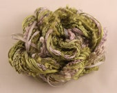 Leaf Green Lavender Lilac Silk sewing Thread Silk embroidery Hand Dyed couching quilting thread weaving yarn fibre art embellishment