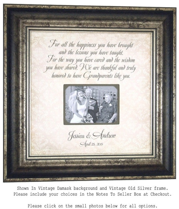 Wedding Gift for Grandparents, Grandparents Wedding Thank You Gift ...