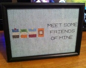 Meet Some Friends of Mine - South Park themed cross stitch