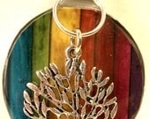 Rainbow Tree Spoon Pendant