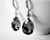 Swarovski Black Diamond Earrings Black Earrings Evening Fashion Wedding Bridesmaid Earrings Formal Fashion Rhinestone Earrings Evening Wear