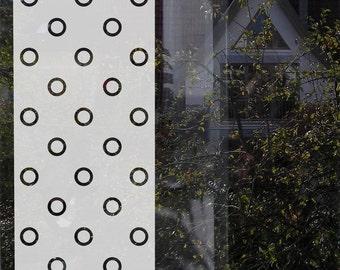 Geometric Window Film, Office Window Privacy Decal, Etched Glass Film, Frosted Glass Film, Window Privacy Film Office, Kitchen Privacy Film