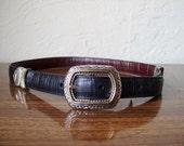 Vintage Brighton Black or Brown Moc Crob Reversible Belt M 30