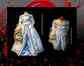 Queen Marie Antionette - Guillotined during the French Revolution. Bloody Extravagant effigy doll by Headless Historicals.