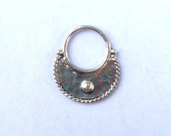 Ethnic Silver Septum Ring