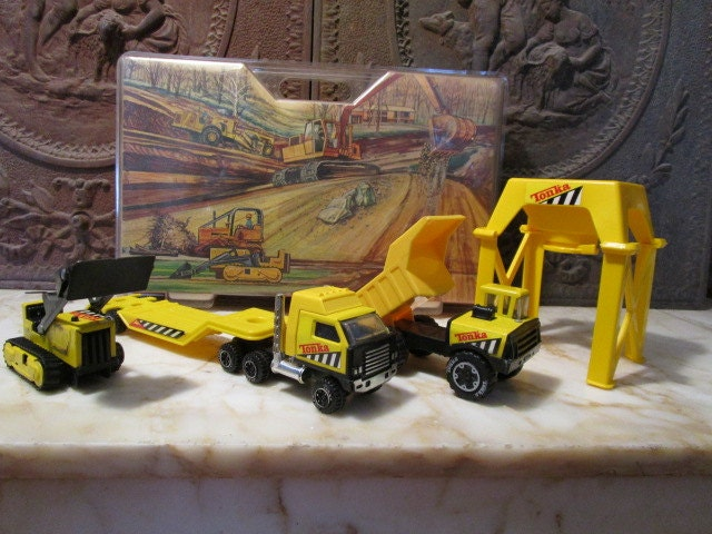 Tonka Construction Toys For Boys : Vintage tonka construction set new in