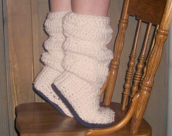 Crochet Boots Pattern ------------- SLOUCH BOOTS-----Style no.1 --------for indoor-outdoor wear