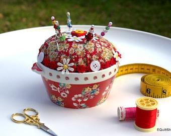 Pincushion Floral Bowl