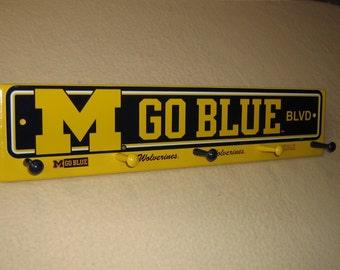 "University of Michigan coat rack ""hangup"" (yellow) (convo me for your favorite team)"